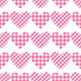 Картина Checkered сердец вектора безшовная Картина клетки vichy Стоковое Фото
