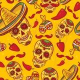 Картина Cinco de Mayo безшовная Стоковые Фотографии RF