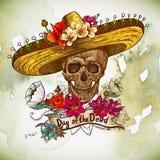 Картина Cinco de Mayo безшовная Стоковое Изображение RF