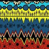 Картина colormulticolor картины Африки племенная безшовная ацтекская причудливая абстрактная геометрическая печать искусства этни иллюстрация вектора