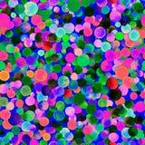 Картина confetti акварели безшовная Стоковые Фото