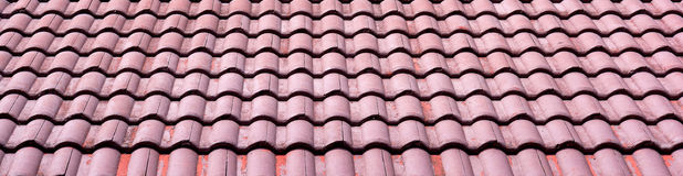 картина 3d представляет плитку крыши Стоковые Изображения
