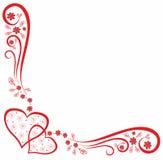Картина Dekorative с сердцами Стоковая Фотография RF