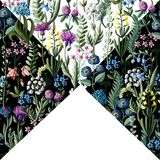 Картина Ditsy безшовная с полевыми цветками для дизайна ткани также вектор иллюстрации притяжки corel иллюстрация штока