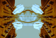 картина dj женская в стиле фанк отраженная иллюстрация вектора
