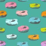 Картина Donuts безшовная иллюстрация вектора