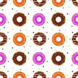 Картина Donuts безшовная Стоковые Фото