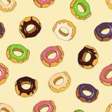 Картина Donuts безшовная Стоковое Изображение RF