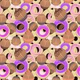 Картина Donuts и булочек Стоковые Изображения