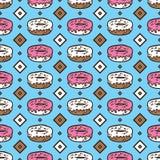 Картина donuts Doodle Стоковые Фотографии RF