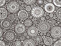 картина doodle безшовная Стоковые Фото