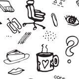Картина doodle вектора безшовная Стоковые Изображения