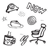 Картина doodle вектора безшовная Стоковые Изображения RF