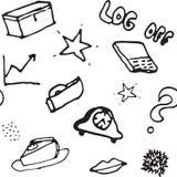 Картина doodle вектора безшовная Стоковая Фотография