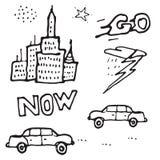 Картина doodle вектора безшовная Стоковые Фотографии RF