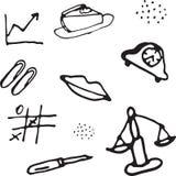 Картина doodle вектора безшовная Стоковое Фото