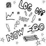 Картина doodle вектора безшовная Стоковое Изображение RF