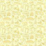 Картина doodle летних каникулов безшовная Стоковое Изображение