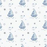 Картина Doodle морская безшовная Иллюстрация штока