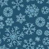 Картина doodle рождества безшовная с снежинками бесплатная иллюстрация
