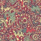 картина doodle флористическая безшовная Стоковые Изображения RF