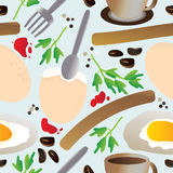 картина eps завтрака безшовная иллюстрация вектора