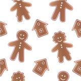 картина gingerbread безшовная иллюстрация штока