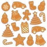 Картина Gingerbread безшовная Стоковая Фотография RF