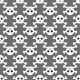 Картина Grunge безшовная с черепами vector искусства ужаса косточки иллюстрации скелет человеческого мертвый Стоковое Изображение RF