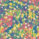 Картина grunge вектора флористическая Стоковое фото RF