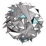 Картина Grunge геометрическая, современная абстрактная предпосылка треугольник Стоковые Изображения RF