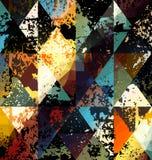 Картина Grunge геометрическая Стоковые Изображения RF