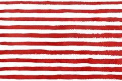 Картина grunge нашивки акварели красная Стоковое Фото