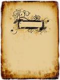 картина grunge предпосылки старая бумажная Стоковое Изображение RF