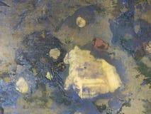 Картина Grungy краски абстрактная на металле стоковые изображения rf