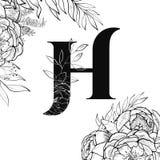 Картина h письма алфавита цветка бесплатная иллюстрация