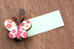 Картина Hairpins коричневой бабочки Стоковое фото RF