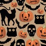 картина halloween шаржа безшовная Стоковое Изображение