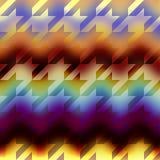 Картина Houndstooths на предпосылке запачканной шевроном Стоковое фото RF
