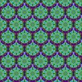 Картина Kaleidoscopic масштабов безшовная Стоковое Изображение