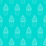 Картина Linear-05 мороженого легкая Стоковое фото RF
