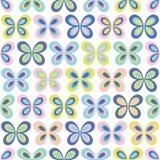 Картина Multicolor геометрических бабочек безшовная Стоковые Изображения