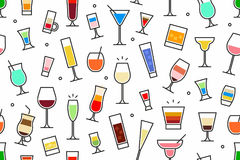Картина ocktails ¡ Ð безшовная Стоковые Изображения
