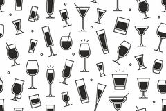 Картина ocktails ¡ Ð безшовная Стоковое фото RF