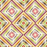 Картина op искусства абстрактного вектора безшовная Искусство шипучки цвета, графический орнамент иллюзион оптически иллюстрация штока