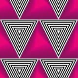 Картина op искусства абстрактного вектора безшовная Красочное искусство шипучки, графический орнамент иллюзион оптически бесплатная иллюстрация