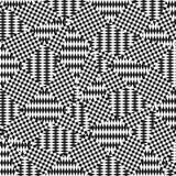 Картина Op искусства с хаотическими нашивками, пересекая линиями, квадратами, косоугольниками бесплатная иллюстрация
