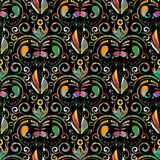 картина paisley безшовная Предпосылка вектора красочная флористическая с Стоковые Изображения RF