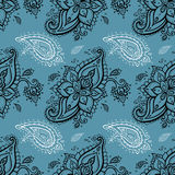картина paisley безшовная Стоковое Изображение RF