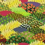 Картина Plenteous полей безшовная жизнь ингридиентов хлебоуборки хлопьев хлеба предпосылки здоровая все еще Стоковая Фотография RF
